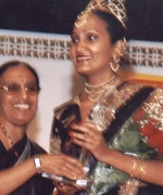 Amrita, receives appreciation plaque from Mrs. L Rajagopal