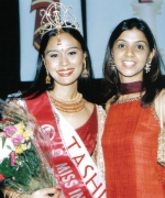 Tashi, with Miss India Worldwide 2003 Purva Merchant