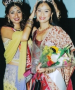 Tashi, being crowned by the outgoing queen Subrina