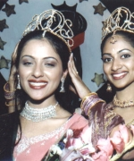Priya Arora, being crowned by the outgoing queen Stacy Isaac