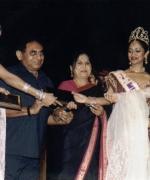 Babu Bhai & Versha Patel, being honored