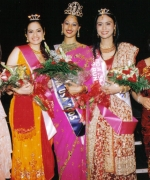 Top Three, flanked by Anjana Trivedi & Shivani Trivedi