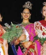 Top Three (from left to right), Nisha Mirchandani (First Runner Up, Trina Chakravarty (Winner), and Tashi Sharma (Second Runner Up)