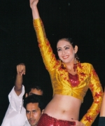 Bollywood Actress Priti Jhangiani, giving a dance performance