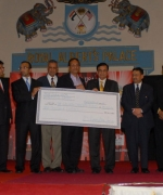 Dr. G.N. Roy Cancer Fund, IFC & JFK Medical Center presenting check to the Dr. G.N. Roy Cancer Fund