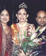 Choreographers, Divya Kumar & Associate Choreographer Rani Khetarpal with Tricia Bhim First Runner Up From Trinidad