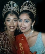 Santripti & Sarika, smiling for the camera