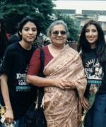 With Mrs. Ila Gandhi, Grand daughter of Mahatma Gandhi & Membor of Parliament of South Africa