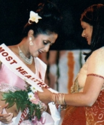 Ankeeta, sashing first runner up Rohini Bannerjee