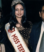 Neelam & Dharmatma Saran, with Miss Teen India South Africa