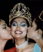 Santripti, being congratulated by Priya and Rohini