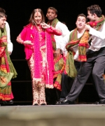 Bollywood Actress Mahima Choudhary, giving a dance performance