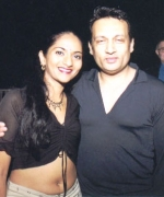 Nadia Ramnath of Trinidad, with Shekhar Suman