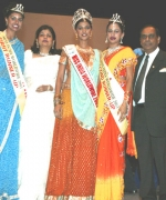 Top Three, Chief Organizer Dharmatma Saran & Neelam Saran with the Top Three