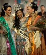 Top Three, Miss India Worldwide with the First Runner Up and Second Runner Up